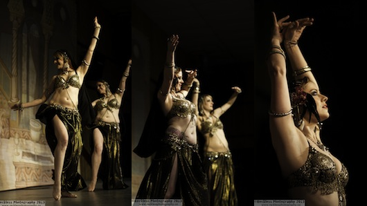 On stage with Bellydancers Scarlet Lux